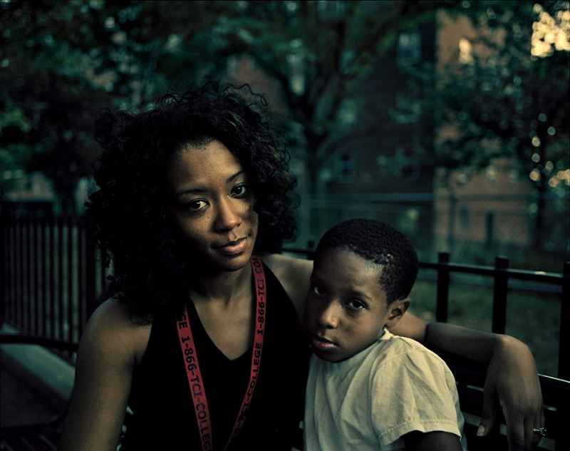 Lawanda Leary and her son Reginald, Bronx, New York, 2011