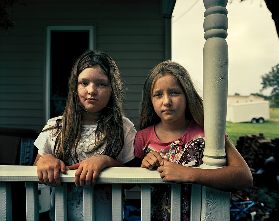 Elizabeth and Aleena Arnsen, Buras, Louisiana, 2011